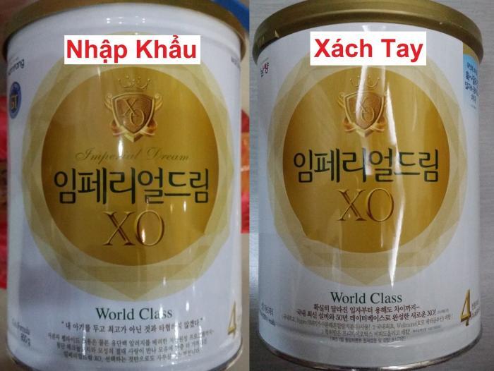 Nên mua sữa XO xách tay Hàn Quốc hay nhập khẩu cho bé?