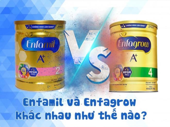Sữa Enfamil và Enfagrow khác nhau như thế nào?