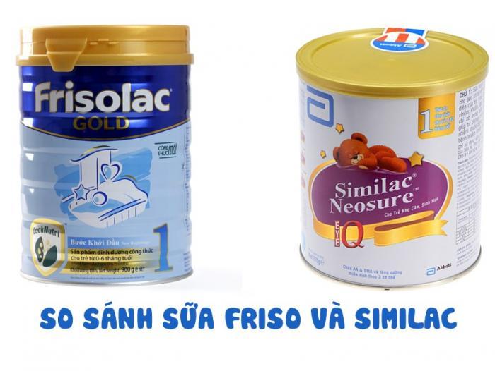So sánh sữa Friso và Similac: Loại nào tốt hơn?