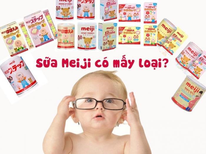 Sữa Meiji có mấy loại? Công dụng đặc tính từng loại ra sao?