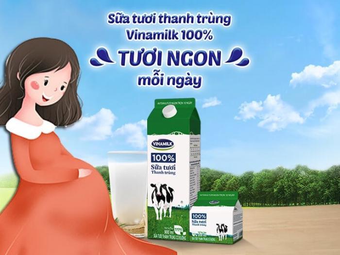 Bà bầu uống sữa tươi Vinamilk có tốt không?