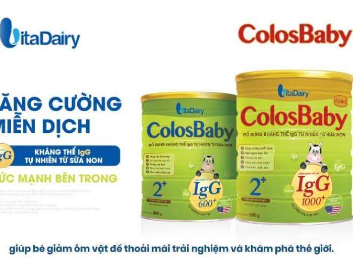 Bổ sung kháng thể IgG từ sữa Colosbaby Gold tăng cường miễn dịch