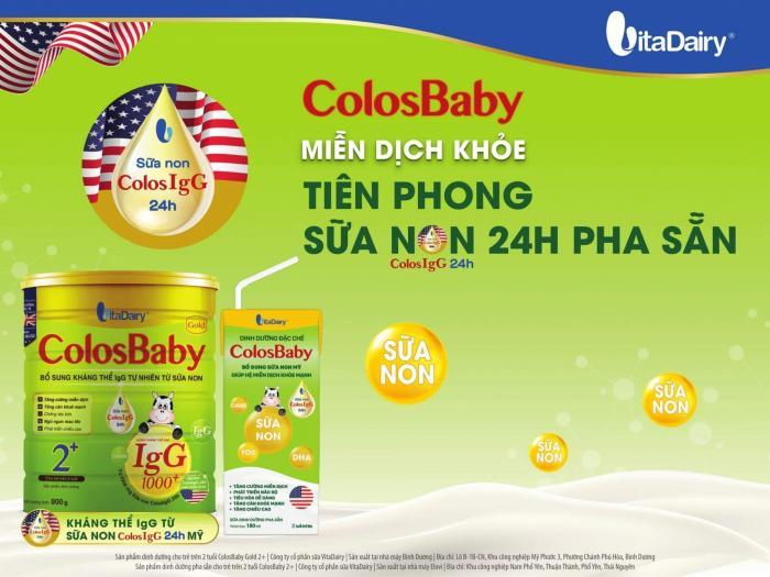 Sữa bột pha sẵn Colosbaby dành cho bé mấy tuổi?