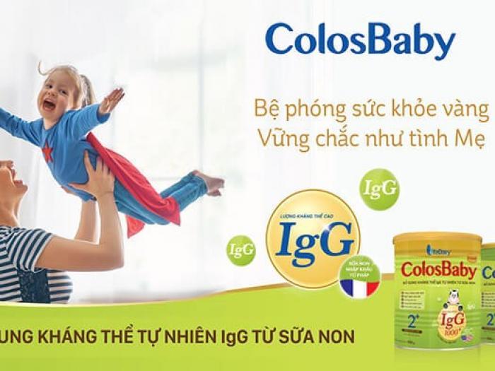 Bé uống sữa Colosbaby có tăng cân không?