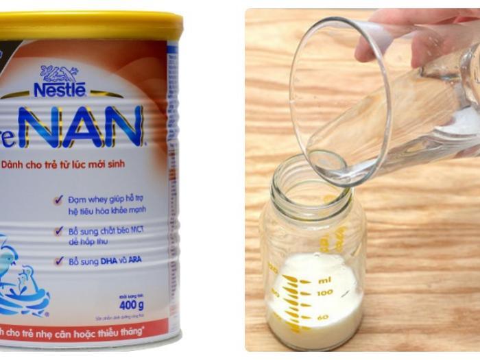 Hướng dẫn cách pha sữa Pre Nan giúp bé tăng cân nhanh