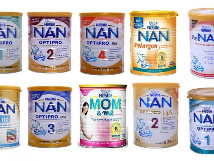 Sữa Nan có mấy loại trên thị trường Việt Nam hiện nay?