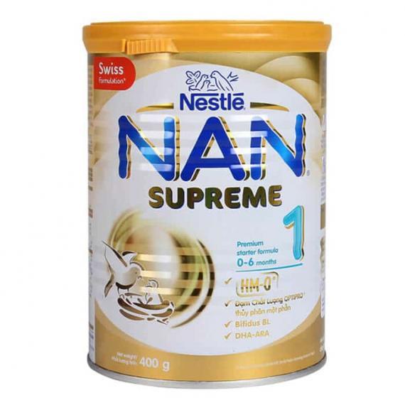 Sữa Nan Supreme 1 400g (dành cho trẻ từ 0-6 tháng)