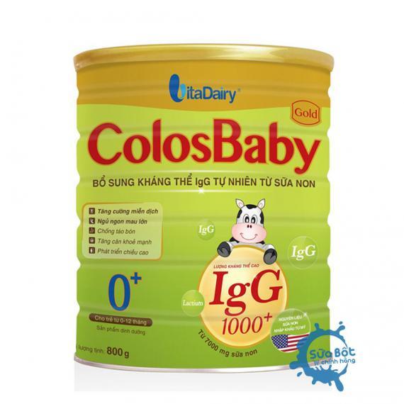 Sữa ColosBaby 0+ 800g (dành cho trẻ từ 0-12 tháng)