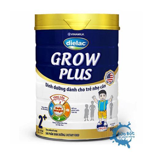 Sữa Dielac Grow Plus 2+ Xanh 900g (dành cho trẻ nhẹ cân từ 2-10 tuổi)