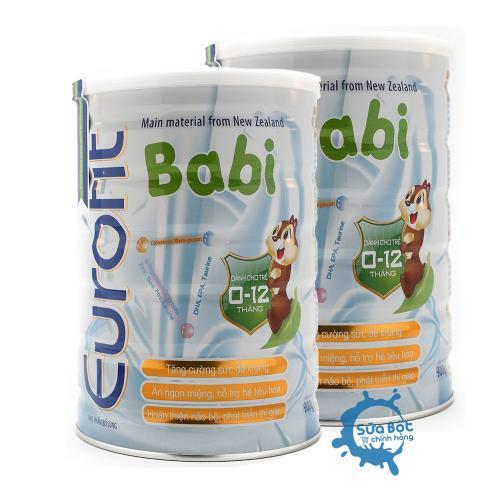 Combo 2 lon sữa eurofit Babi 900g (dành cho trẻ từ 0 - 12 tháng)