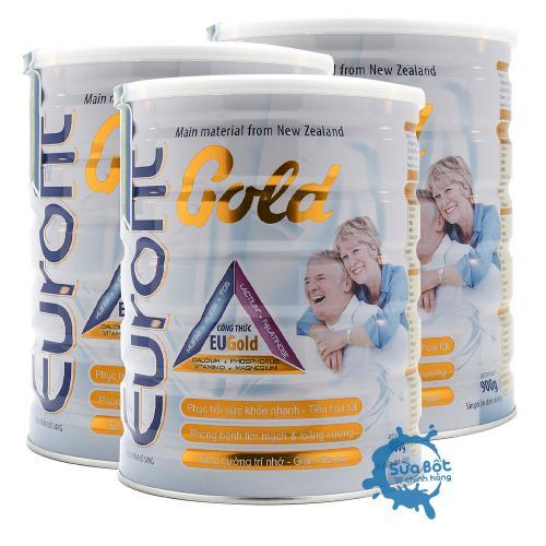 Combo 3 lon sữa Eurofit Gold | SỮA TĂNG CƯỜNG DINH DƯỠNG & SỨC KHỎE CHO NGƯỜI LỚN TUỔI