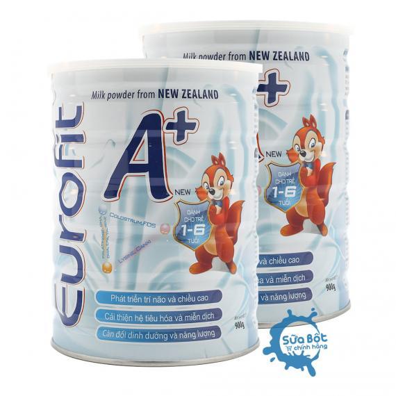 Combo 2 lon sữa Eurofit A+ 900g (dành cho trẻ từ 1 - 6 tuổi)