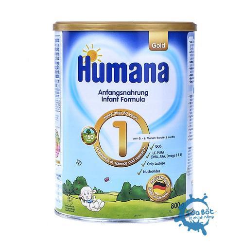 Sữa Humana Gold 1 Đức 800g (dành cho trẻ từ 0-6 tháng)