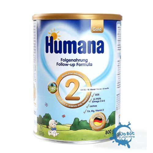 Sữa Humana Gold 2 Đức 800g (dành cho trẻ từ 6-12 tháng tuổi)