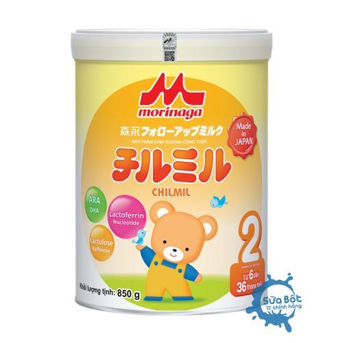 Sữa Morinaga số 2 850g (dành cho trẻ từ 06 - 36 tháng)