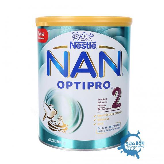Sữa Nan Optipro 2 800g (dành cho trẻ từ 6-12 tháng tuổi)