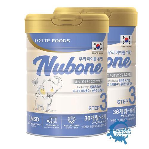 Combo 2 lon sữa Nubone Step 3 750g (dành cho trẻ từ 3-6 tuổi)