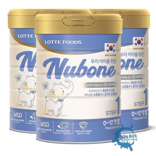Combo 3 lon Sữa Nubone Step 1 750g (dành cho trẻ từ 0 - 12 tháng)