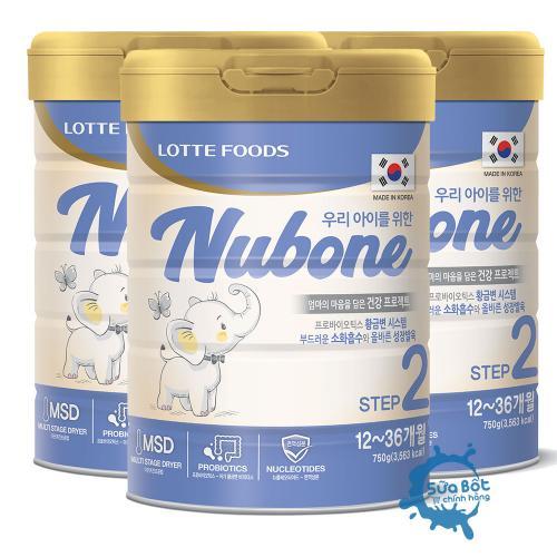 Combo 3 lon Sữa Nubone Step 2 750g (dành cho trẻ từ 1-3 tuổi)