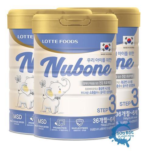 Combo 3 lon sữa Nubone Step 3 750g (dành cho trẻ từ 3-6 tuổi)