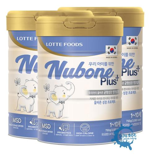 Combo 3 lon sữa Nubone Plus+ 750g sữa cao năng lượng nhập khẩu chính hãng tại Việt Nam