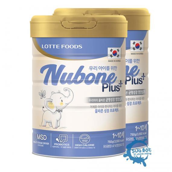 Combo 2 lon sữa Nubone Plus+ 750g sữa cao năng lượng nhập khẩu chính hãng tại Việt Nam