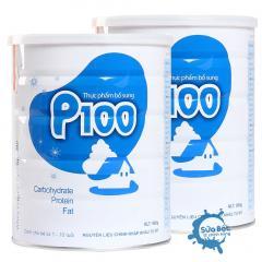 Combo 2 lon sữa tăng cân P100 900g (dành cho trẻ thiếu cân, suy dinh dưỡng)