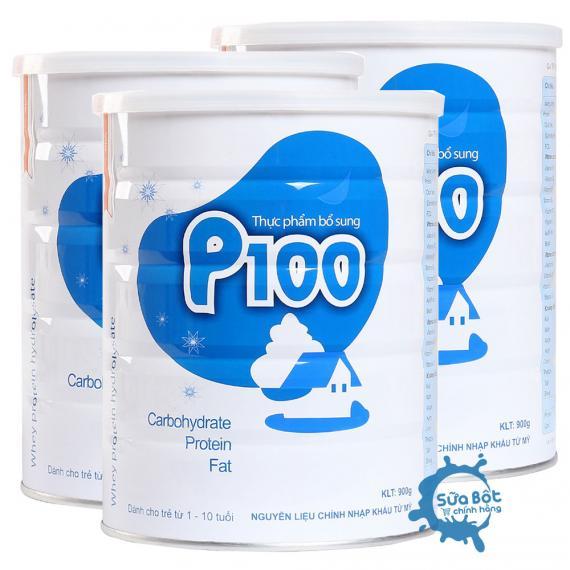 Combo 3 lon sữa tăng cân P100 900g (dành cho trẻ thiếu cân, suy dinh dưỡng)