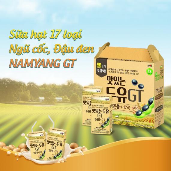 Sữa hạt 17 loại ngũ cốc, đậu đen Namyang GT