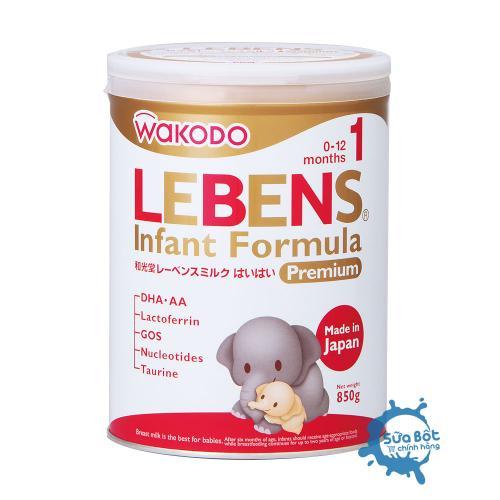 Sữa Wakodo Lebens 1 850g (dành cho trẻ từ 0 - 12 tháng tuổi)