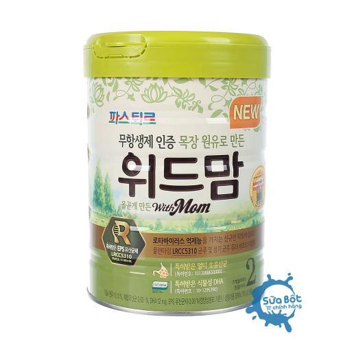 Sữa With Mom Bò số 2 750g (dành cho trẻ từ 7-12 tháng)